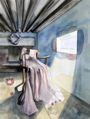 Wedding Dress/ Watercolor 78x60cm