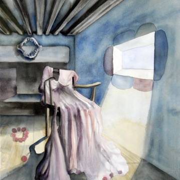 Wedding Dress/ Watercolor 78x60cm