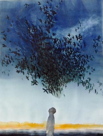 Birds/ Watercolour 78x60cm