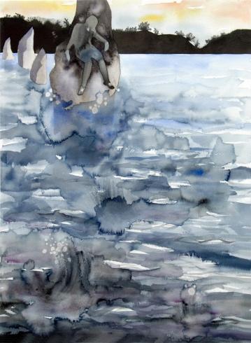 The Seat/ Watercolour 78x60cm