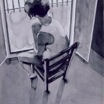 Girl 1/ Ink 60x40cm