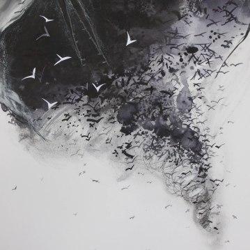 Flock/ Ink 60x42cm