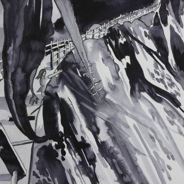 La Coupee/ Ink 58x40cm