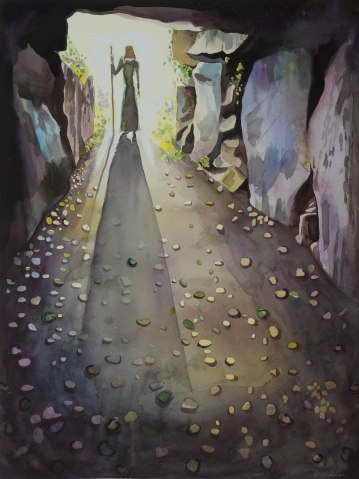 Le Creux es Faies/ Watercolour 64x56cm