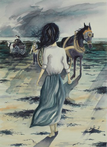 The Vraic Collectors/ Watercolour 72x52cm