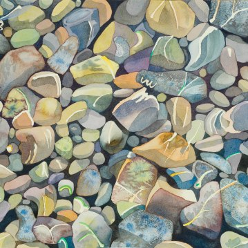Guernsey Pebbles/ Watercolour 34x48cm