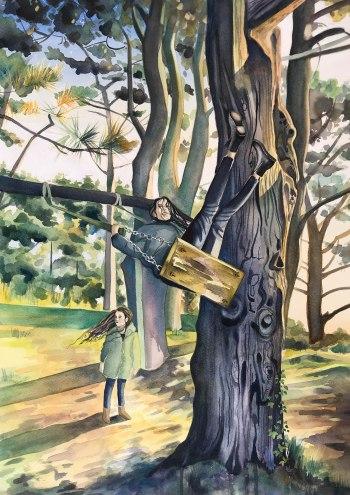 L & T Behind Le Trepied/ Watercolour 68cm x 47cm